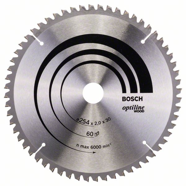 Pilový kotouč Bosch 254 x 30 x 2,0 mm, 60 z, 2608640436 Optiline Wood