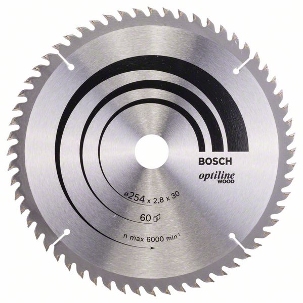Pilový kotouč Bosch 254 x 30 x 2,8 mm, 60 z, 2608640444 Optiline Wood