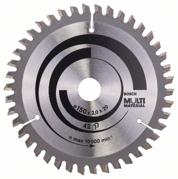 Pilový kotouč Bosch 150 x 20/16 x 2,0 mm, 42 z, 2608640501 Multi Material