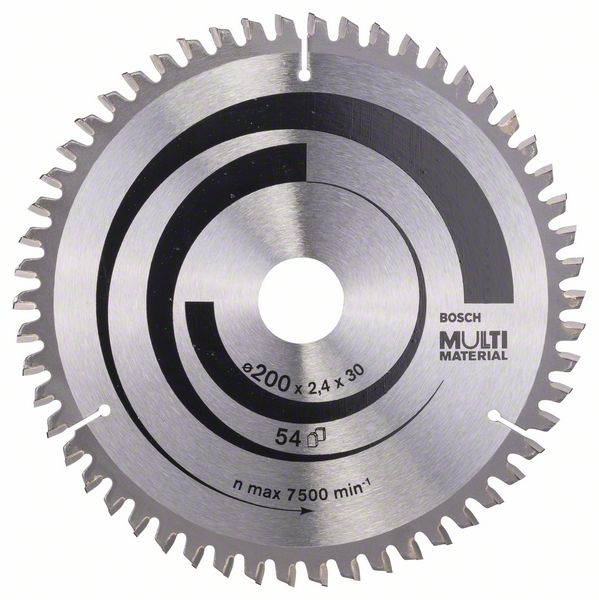 Pilový kotouč Bosch 200 x 30 x 2,4 mm, 54 z, 2608640510 Multi Material