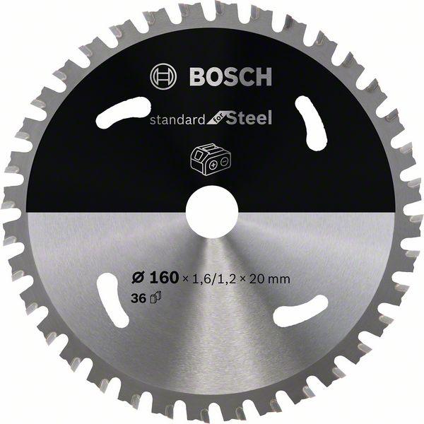 Pilový kotouč Bosch 160 x 20 x 1,6 mm, 36 z, 2608837749 Standard for Steel pro aku pily