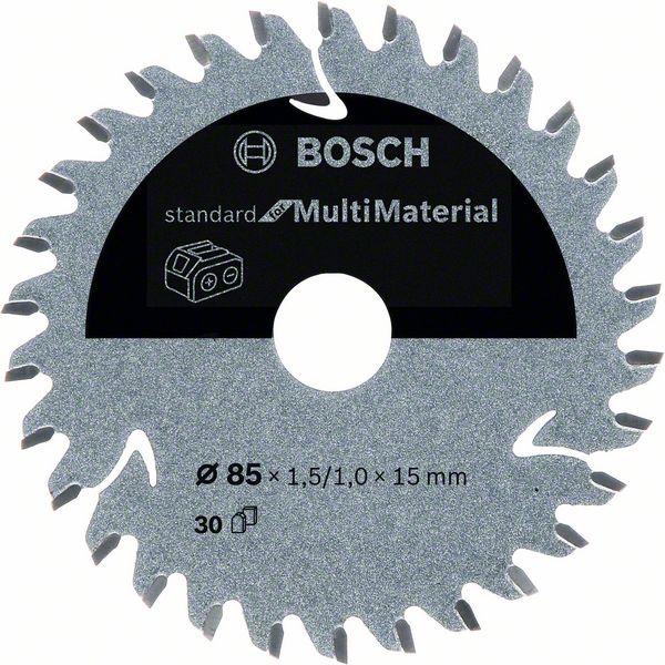 Pilový kotouč Bosch 85 x 15 x 1,5 mm, 30 z, 2608837752 Standard for Multi Material pro aku pily
