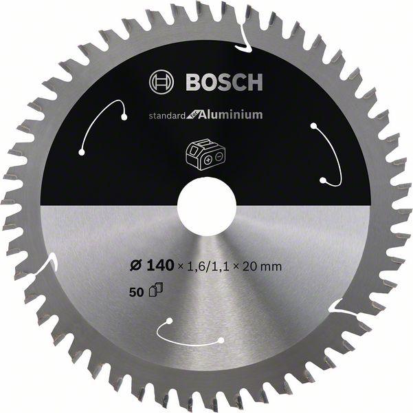 Pilový kotouč Bosch 140 x 20 x 1,6 mm, 50 z, 2608837755 Standard for Aluminium pro aku pily