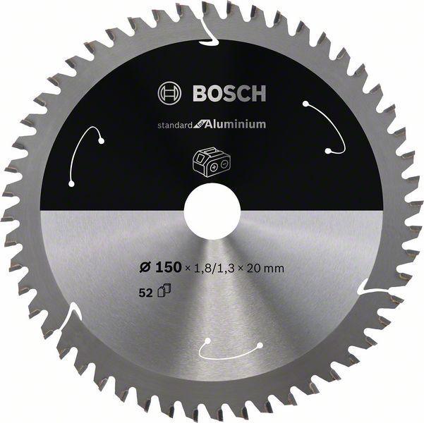 Pilový kotouč Bosch 150 x 20 x 1,8 mm, 52 z, 2608837756 Standard for Aluminium pro aku pily