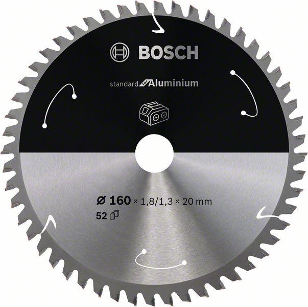 Pilový kotouč Bosch 160 x 20 x 1,8 mm, 52 z, 2608837757 Standard for Aluminium pro aku pily