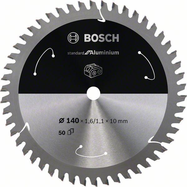 Pilový kotouč Bosch 140 x 10 x 1,6 mm, 50 z, 2608837761 Standard for Aluminium pro aku pily
