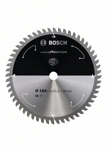 Pilový kotouč Bosch 184 x 16 x 2,0 mm, 56 z, 2608837766 Standard for Aluminium pro aku pily
