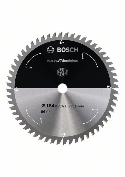 Pilový kotouč Bosch 184 x 16 x 2,0 mm, 56 z, 2608837767 Standard for Aluminium pro aku pily
