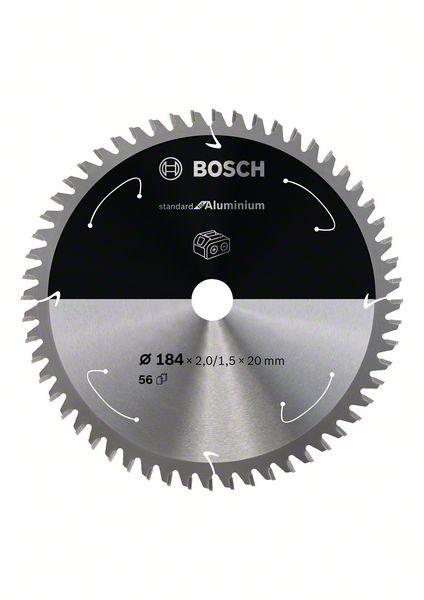Pilový kotouč Bosch 184 x 20 x 2,0 mm, 56 z, 2608837768 Standard for Aluminium pro aku pily