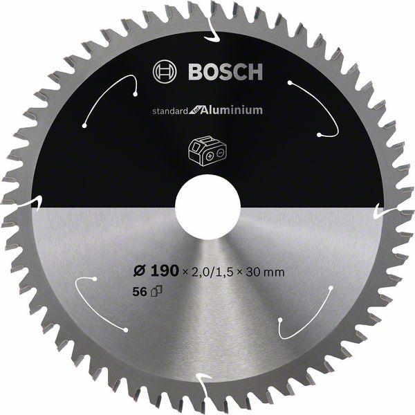 Pilový kotouč Bosch 190 x 30 x 2,0 mm, 56 z, 2608837771 Standard for Aluminium pro aku pily