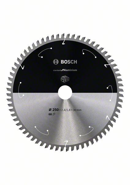 Pilový kotouč Bosch 250 x 30 x 2,4 mm, 68 z, 2608837778 Standard for Aluminium pro aku pily