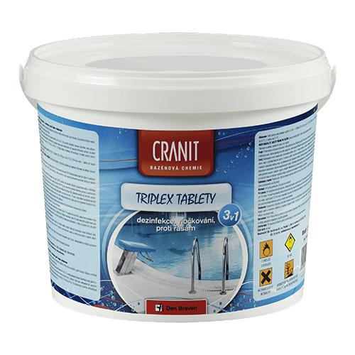 Den Braven CH201 Cranit Triplex - dezinfekce, proti řasám, vločkování, 2,4 kg
