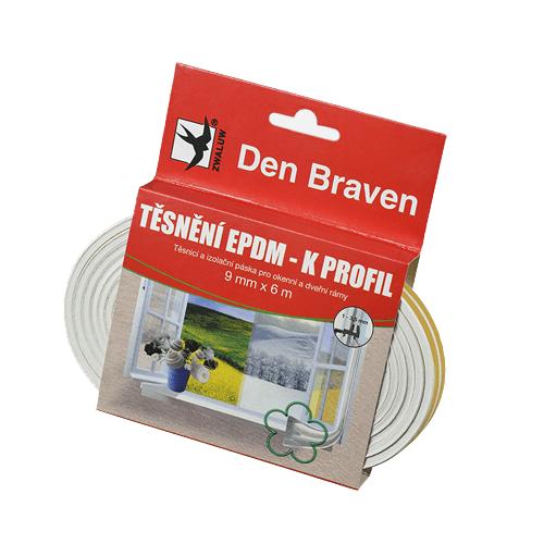 Den Braven Den Braven Těsnění EPDM- K profil bílý 9x4x6m Mappy (E)