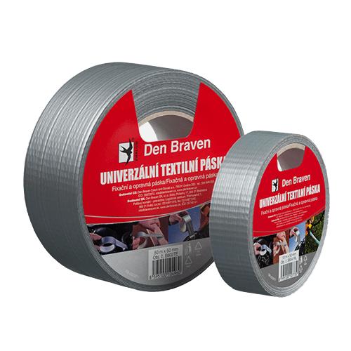Den Braven B8031RL Univerzální textilní páska, 25 mm x 10 m, stříbrná