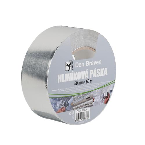 Den Braven B753RL Hliníková páska, 75 mm x 50 m