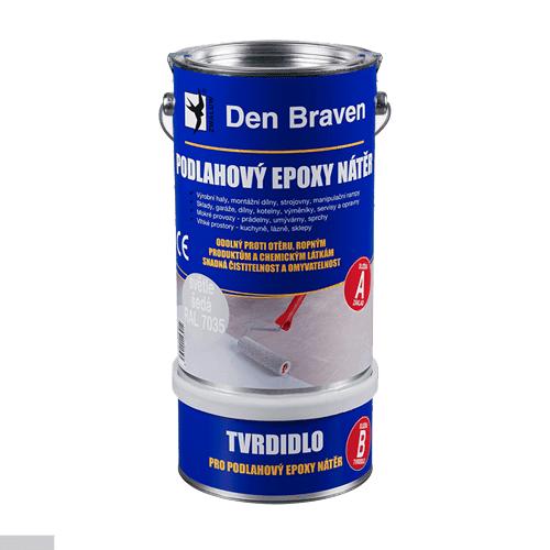 Den Braven T6000 Podlahový epoxy nátěr, 5 + 1 kg, světle šedý RAL 7035