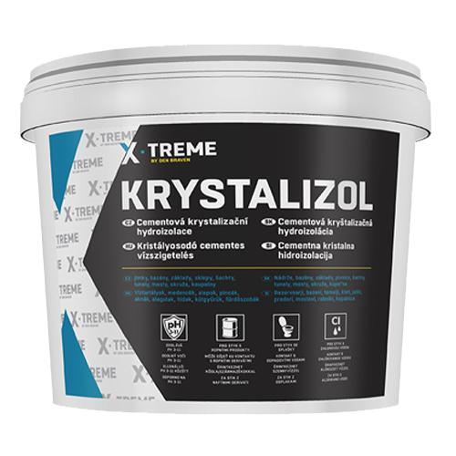 Den Braven CH0330 Cementová hydroizolace Krystalizol, kbelík 5 kg, šedá