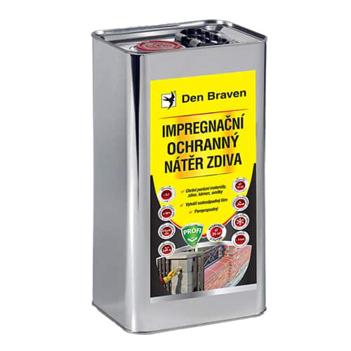 Den Braven CH00032 Impregnační a ochranný nátěr zdiva PROFI, kanystr 5 litrů