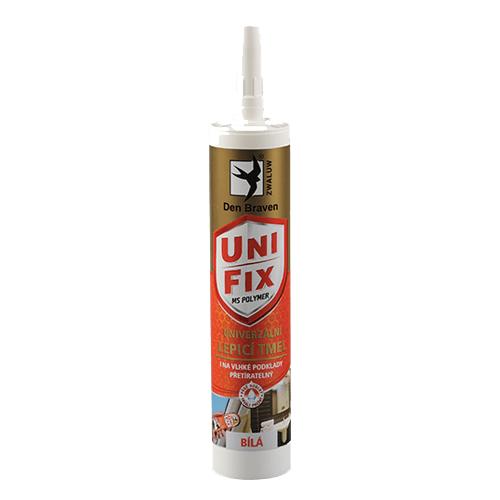 Den Braven 52012BD MS UNIFIX na všechna tmelení a lepení, kartuše 290 ml, bílá