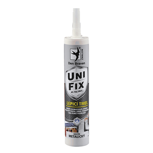 Den Braven 520151BP MS UNIFIX METAL, kartuše 290 ml, šedá-metalická