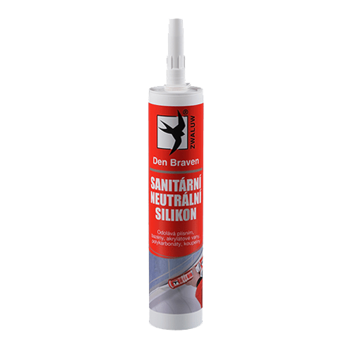 Den Braven 306021RL Sanitární neutrální silikon OXIM, kartuše 280 ml, bílý