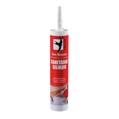 Den Braven 30218RL Sanitární silikon, kartuše 280 ml, světle šedý - manhattan