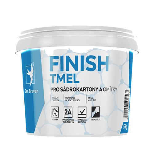Den Braven 000406RL Finish tmel na sádrokartony, kbelík 14 kg, bílý