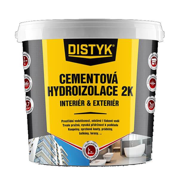 Distyk CH0274DCZ CEMENTOVÁ HYDROIZOLACE 2K INTERIÉR A EXTERIÉR, kbelík 7 kg, šedá
