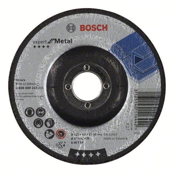 Brusný kotouč 125x6x22,23 Bosch 2608600223 Expert for Metal
