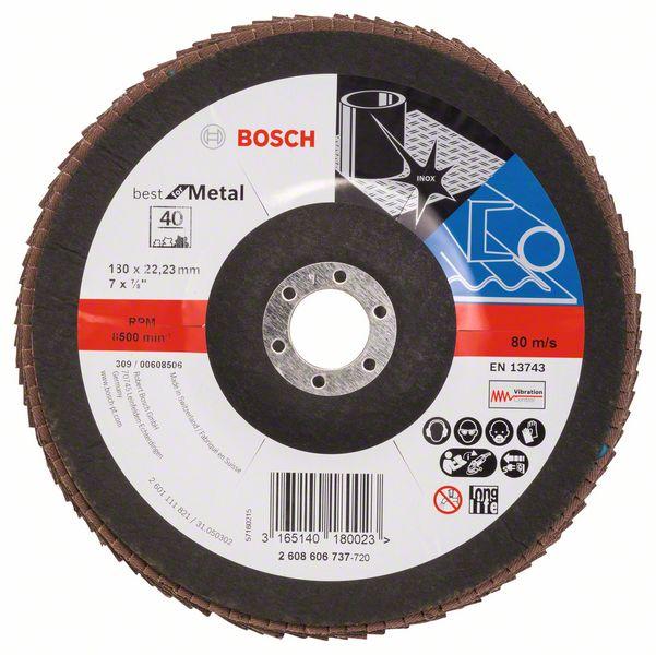 Lamelový kotouč šikmý 180 mm, P40, Bosch 2608606737 Best for Metal
