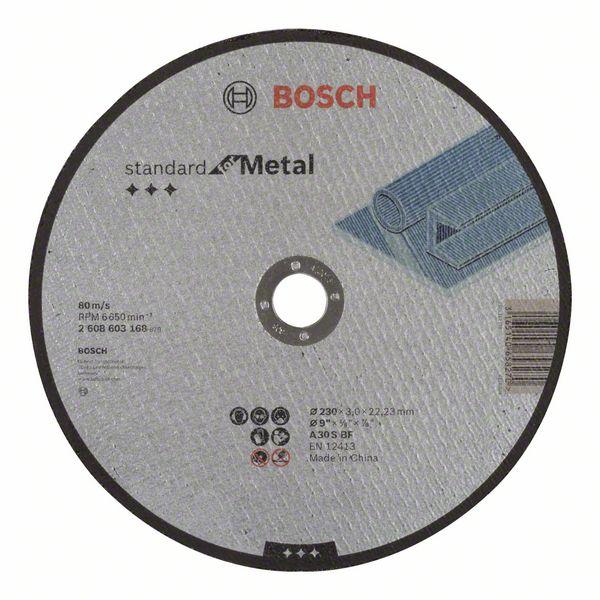 Řezný kotouč 230x3x22,23 Bosch 2608603168 Standard for Metal