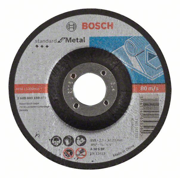 Vydutý řezný kotouč 115x2,5x22,23 Bosch 2608603159 Standard for Metal
