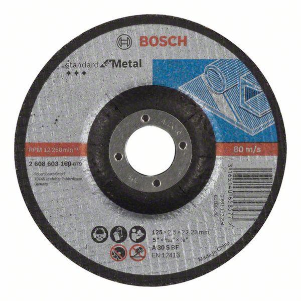Vydutý řezný kotouč 125x2,5x22,23 Bosch 2608603160 Standard for Metal