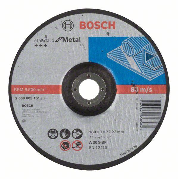 Vydutý řezný kotouč 180x3x22,23 Bosch 2608603161 Standard for Metal