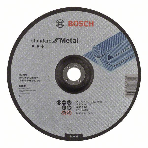 Vydutý řezný kotouč 230x3x22,23 Bosch 2608603162 Standard for Metal