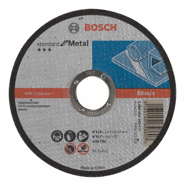 Řezný kotouč 115x1,6x22,23 Bosch 2608603163 Standard for Metal