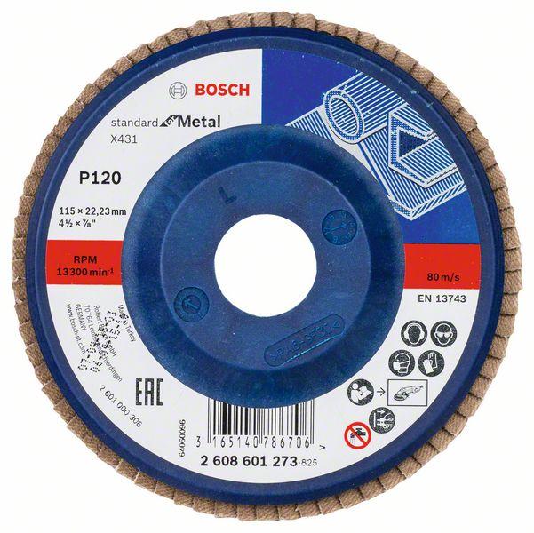 Lamelový kotouč rovný 115 mm, P120, Bosch 2608601273 Standard for Metal