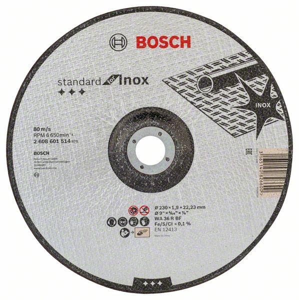 Vydutý řezný kotouč 230x1,9x22,23 Bosch 2608601514 Standard for Inox