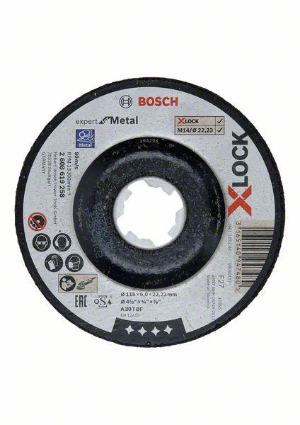 Brusný kotouč X-LOCK 115x6x22,23 Bosch 2608619258 Expert for Metal