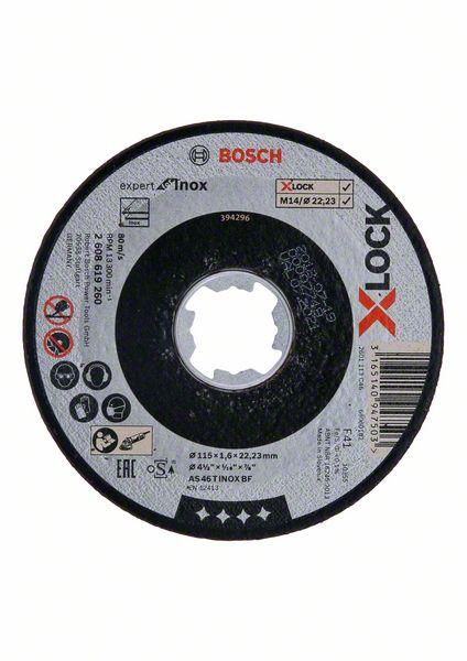 Řezný kotouč X-LOCK 115x1,6x22,23 Bosch 2608619260 Expert for Inox
