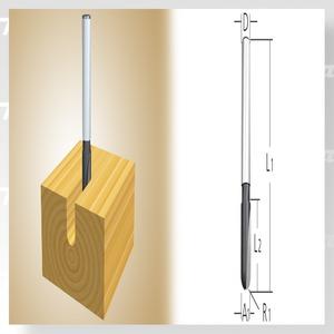 Makita D-09329 Fréza drážkovací, tvar U, 6mm stopka