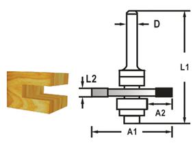 Makita D-48985 Fréza kotoučová s ložiskem, 8mm stopka