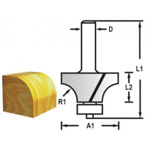 Makita D-48371 Fréza zaoblovací s ložiskem, 8mm stopka