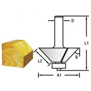 Makita D-48717 Fréza fazetová / hranová s ložiskem, 12mm stopka