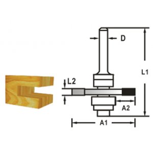Makita D-48957 Fréza kotoučová s ložiskem, 8mm stopka