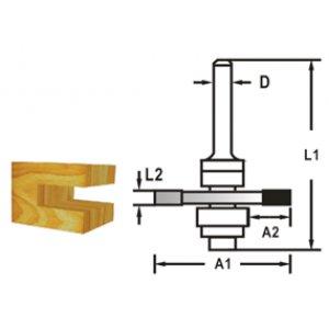 Makita D-48963 Fréza kotoučová s ložiskem, 8mm stopka