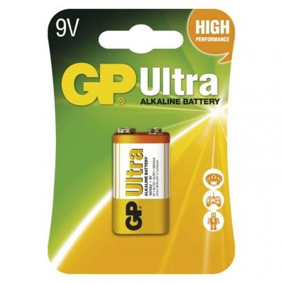 Emos B1951 Alkalická baterie GP Ultra 9V (6LF22), 1ks