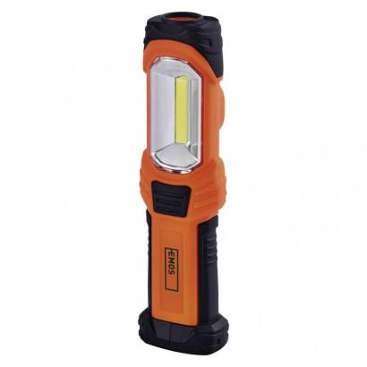 Emos P4111 COB LED + LED pracovní svítilna P4111, 350 lm, 3× AA