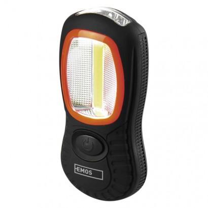 Emos P3883 COB LED + LED pracovní svítilna P3883, 200 lm, 3× AAA