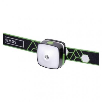 Emos P3535 CREE + SMD LED nab. čelovka P3535, 110 lm,55m,Li-Pol 850 mAh